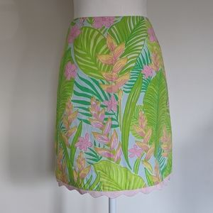 Lilly Pulitzer Floral Scalloped Skirt